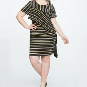 Eloquii Shift Dress Womens Plus Size 16 Black Shor